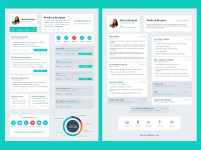 Timeline Resume clean flat timeline curriculum vitae cv resume