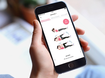 Fitness App workout minimalist clean ui mobile sport fitness