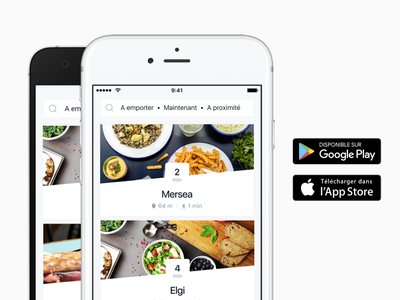 Lunchr clean product design app feed foodtech startup