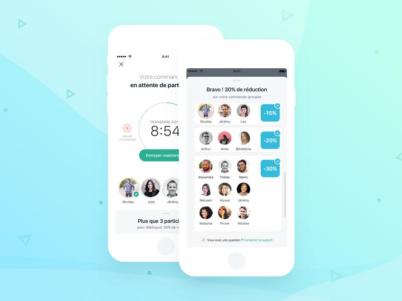 Lunchr app team clean lunch order mobile design ux mobile