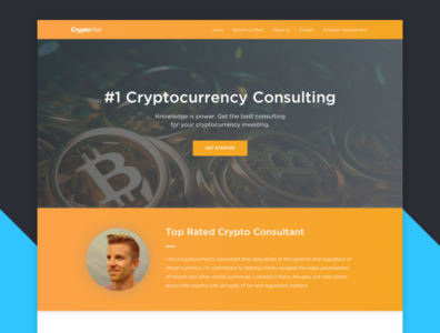Cryptocurrency Consultant web design website landing page landing