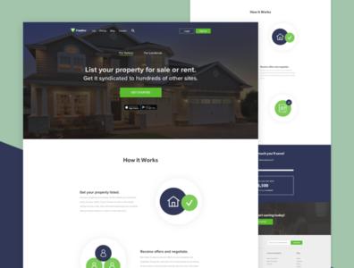 Landing Page for Property Startup landing landing page ui minimal real estate landing page design web design landing page