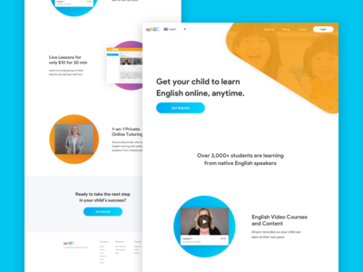 Online Tutor Platform Landing Page