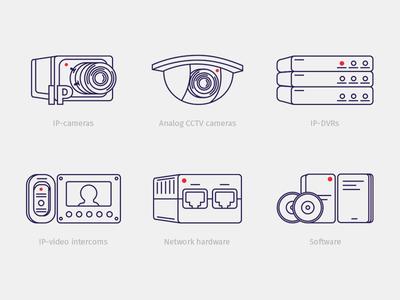 CCTV Icons Set