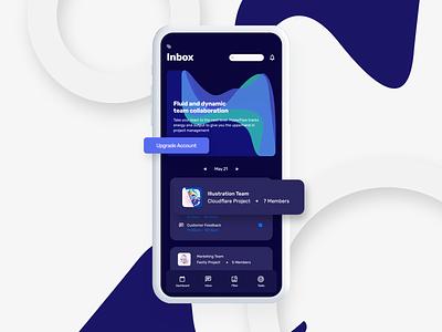 Collab - Team Collaboration App xd collaboration ux platform social minimal ui product management product design app