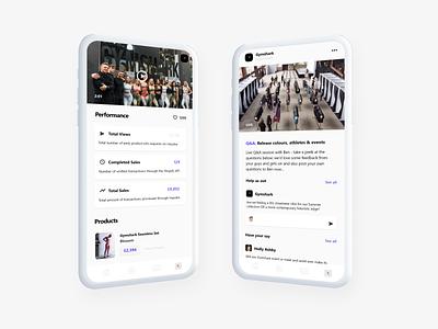 Impulse - Social Commerce App - Gymshark product minimal ux ui social platform design commerce app product management