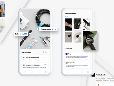 Impulse - Social Commerce App - Case Study ux ui social product management product platform minimal design app commerce