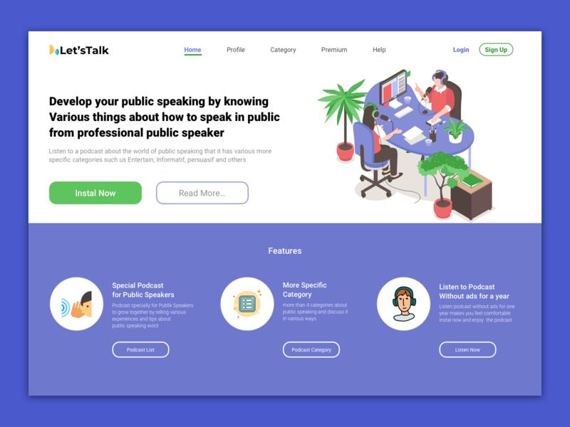 Podcast homepage webdesign minimal website branding web ui ux design