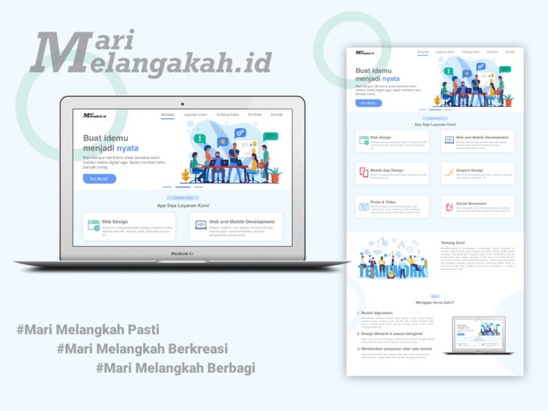 Marimelangkah.id website design userexperiencedesign userexperience userinterface flat minimal ui website webdesign web branding ux design