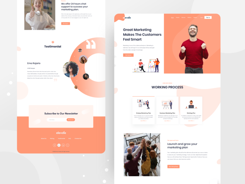 Marketing agency - Landing Page webapp website design web design user experience user interface design ux ui visual design landing page minimal creative agency digitalmarketing marketing