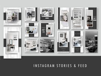 Instagram stories & feed