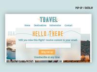 #16 Daily UI - Travel Blog