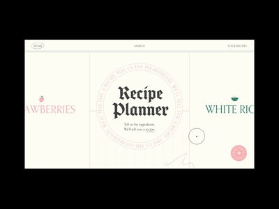 Recipe Planner eggs chicken carrots shopping list cooking recipe interaction procreate aftereffects web design ui ui ux ux design scroll physics falling animation web ux xd