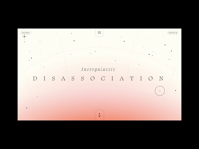 Intergalactic Disassociation loop stars astral project galaxy ux site design after effects space circular scroll animation mental health xd motion ui interaction web design animation