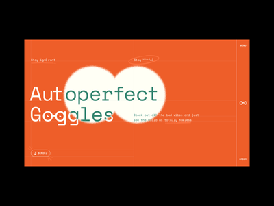 Autoperfect Goggles mouse over spotlight hover effect bills plants branding mental health after effects xd interaction scroll animation perfect web design animation