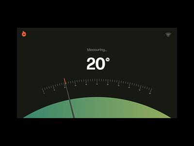 Burntout Barometer fire measurement measure meter burn flame gradient interaction mental health after effects ui xd web design animation