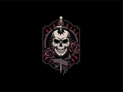 skull tshirt design for sale clothes artwork brand brand logo skull and crossbones tshirt clothing design apparel design clothing apparel roses rose illustration design skulls skull