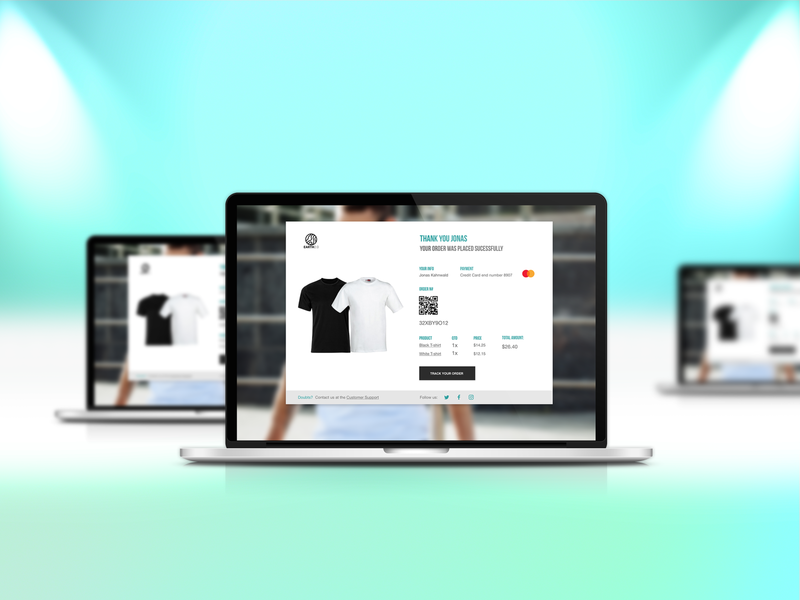 DailyUI 0017 website design webdesign tracking purchases email website ordering email design dailyui017 email receipt design dailyui ux ui
