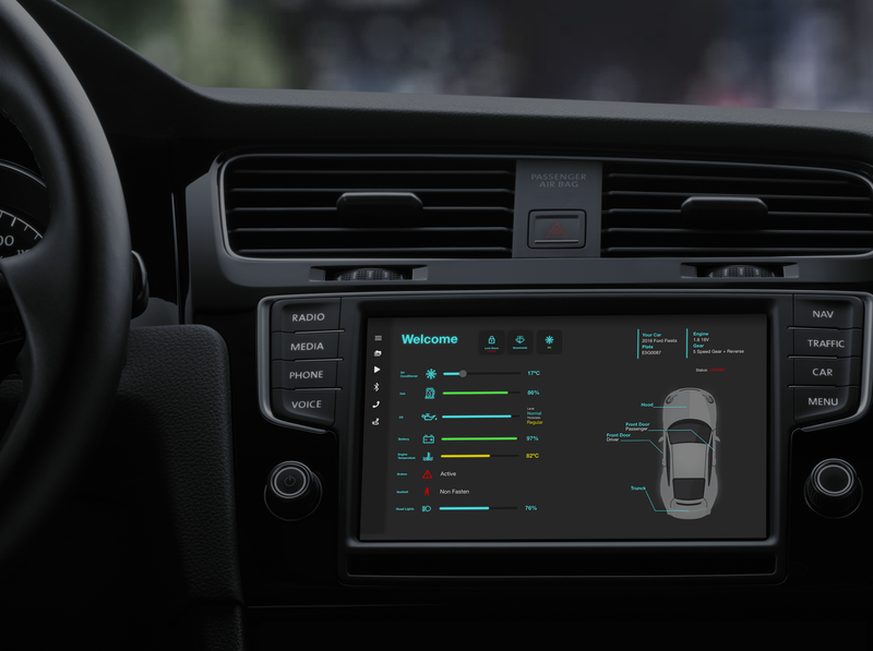 DailyUI 034 dailyui 034 dashboard car app design dailyuichallenge mobile design dailyui ux ui car interaction car dashboard car interface