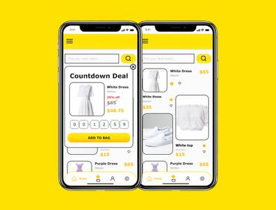 DailyUI 036 offer banner countdown countdown timer 036 daily ui 036 special offer offer dailyuichallenge app mobile app design design dailyui ux ui