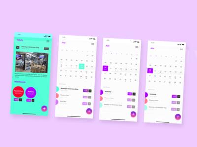 DailyUI 038 daily ui daily ui challenge daily ui 038 calendar ui calendar app calendar app icon dailyuichallenge app mobile app design design dailyui ux ui