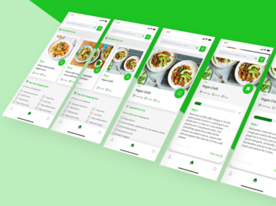 DailyUI 040 daily ui 040 step by step recipe app recipies branding app icon dailyuichallenge app mobile app design design dailyui ux ui