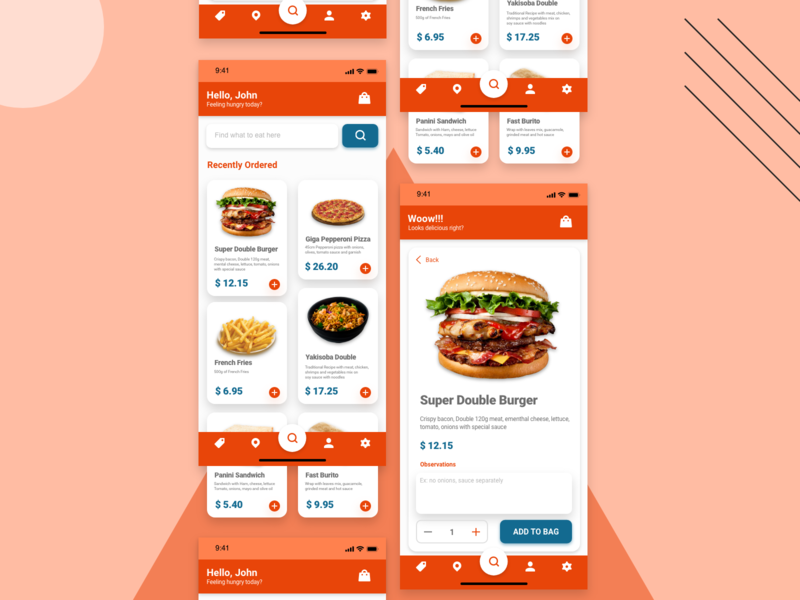 DailyUI 043 food and drink daily ui challenge daily ui 001 daily ui 043 food menu food ordering food app app mobile app design design dailyui ux ui