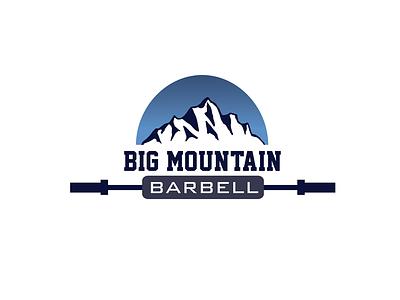 Big Mountain Barbell Logo brandidentity branding design illustration graphicdesign logodesign logo