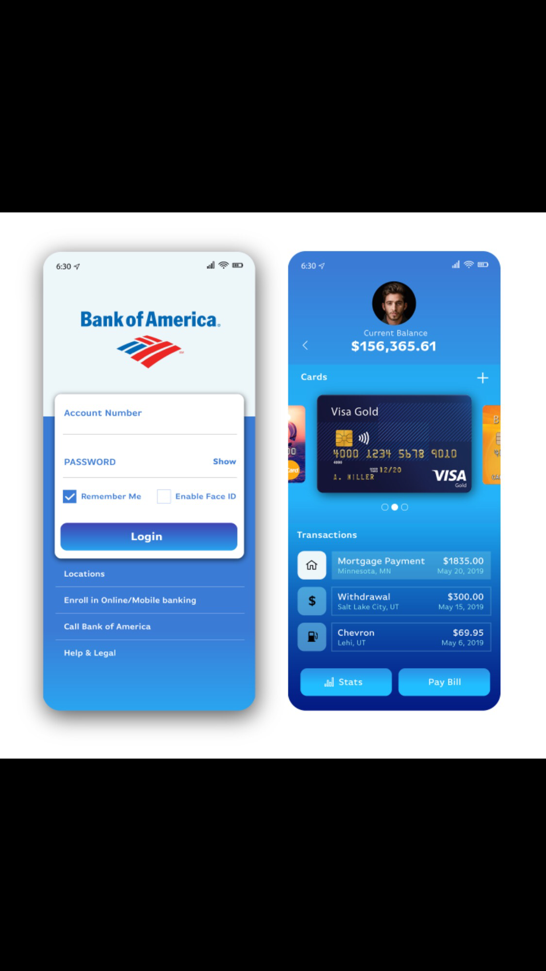 Bank App Design graphic designer user interface user experience web design mobile design app design ui ux