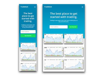 TradeDesk Website Design web development interaction design ux ui web design