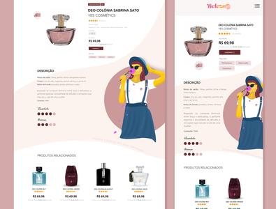 Projeto Perfume vector ilustration prototyp app ux ui  ux app design ui design illustration