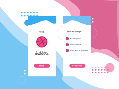 Hello Dribbble! Debut shot by Andrew!