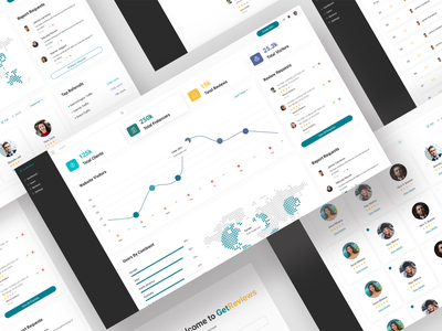GetReviews- Admin Template learning management system startups theme professional minimal website template web design clients freelancer business admin dashboard design admin template