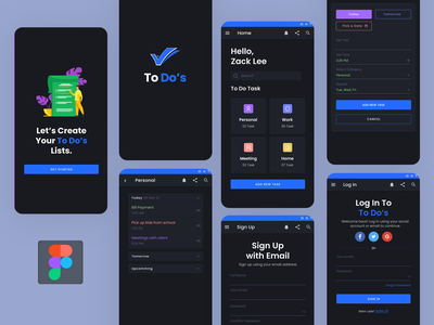 To Do Android App android app development android app design apple typography ux vector branding ui illustration logo application to do app startups business app design