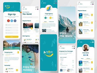 Trave- Travel Agency App agency branding travel agent ios app best app design design agency book travel agency traveling travel app template