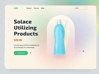 Vend- Ecommerce Header Exploration header design website design