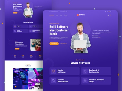 Fintech Solutions- IT Services & Solutions Website Template. startup company
