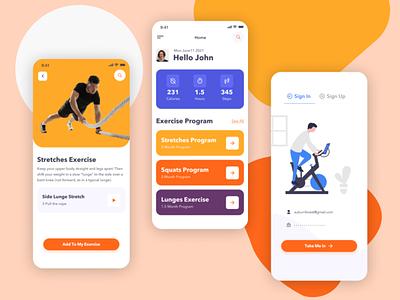 Corpus- Fitness App icon typography ux vector ui professional illustration logo template fitness app design app design fitness app