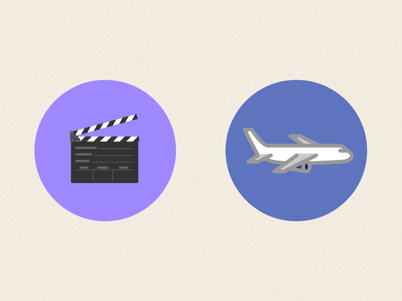 Dribbble Film Airline Icons icons animation