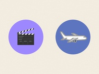 Dribbble Film Airline Icons