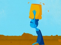 Collecting water Dribbble