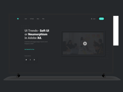 Dark theme Web UI concept.