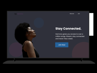 Music Streaming Web Ui concept