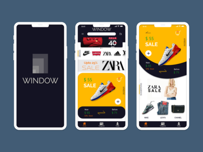 WINDOW - Shoping Mobile app concept