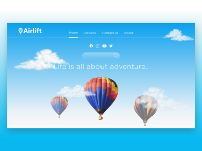 Airlift - Landing Page Design
