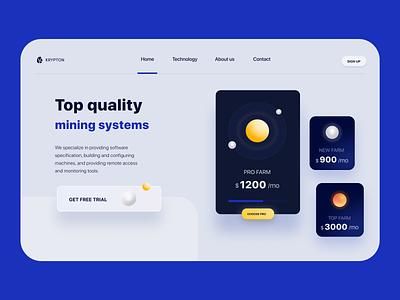 Design Concept «Miny Systems» webdesign designer daily ui dailyui ui minimal web typography design
