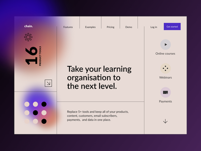 Design Concept  «Learning organisation» website webdesign web ui typography designer minimal design daily ui dailyui
