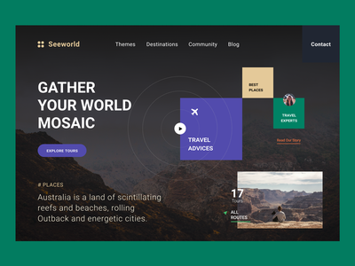 Design Concept «Mosaic World» website webdesign web ui typography minimal designer design daily ui dailyui