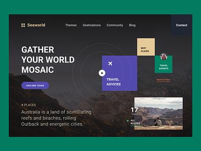 Design Concept «Mosaic World» website webdesign web ui typography minimal designer design daily ui dailyui