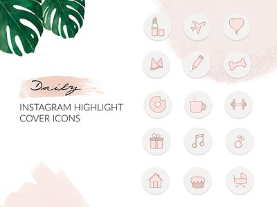 Instagram Highlight icon set icons website webdesign ui typography minimal designer